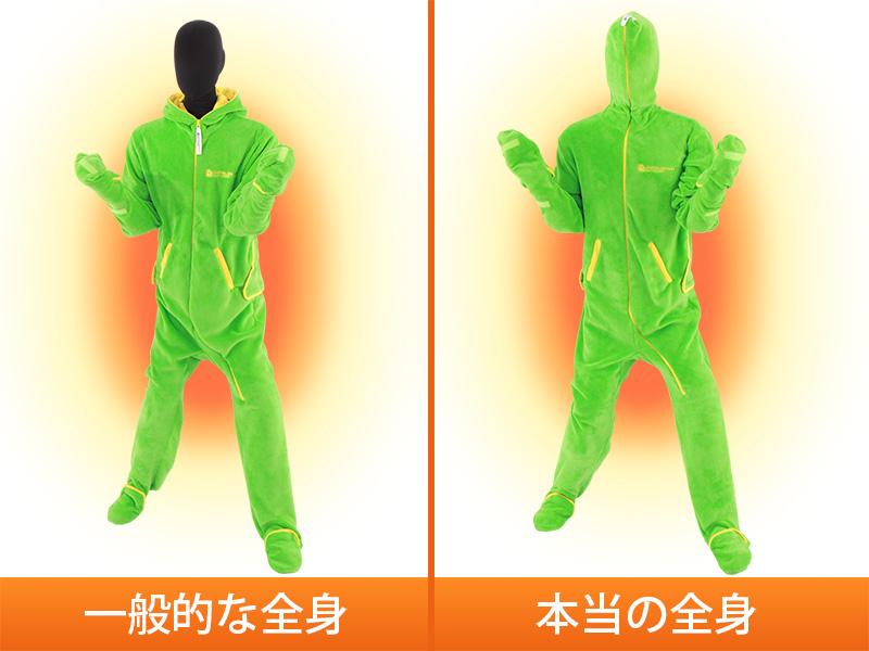 人型寝袋フリースの各部の特徴(全身ぬくぬくフルカバー)