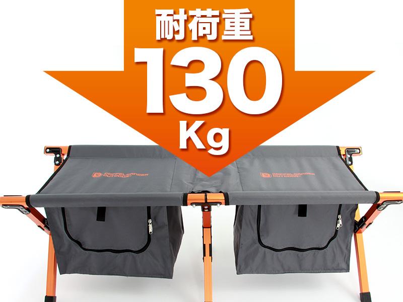 ストレージベンチの各部の特徴(静止耐荷重130kg)