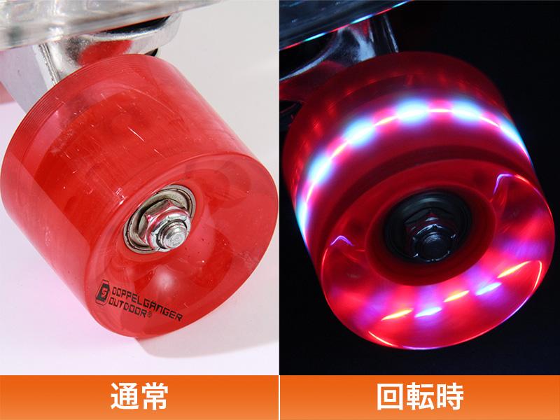 LEDスケートボードのメインの特徴(LEDウィール)