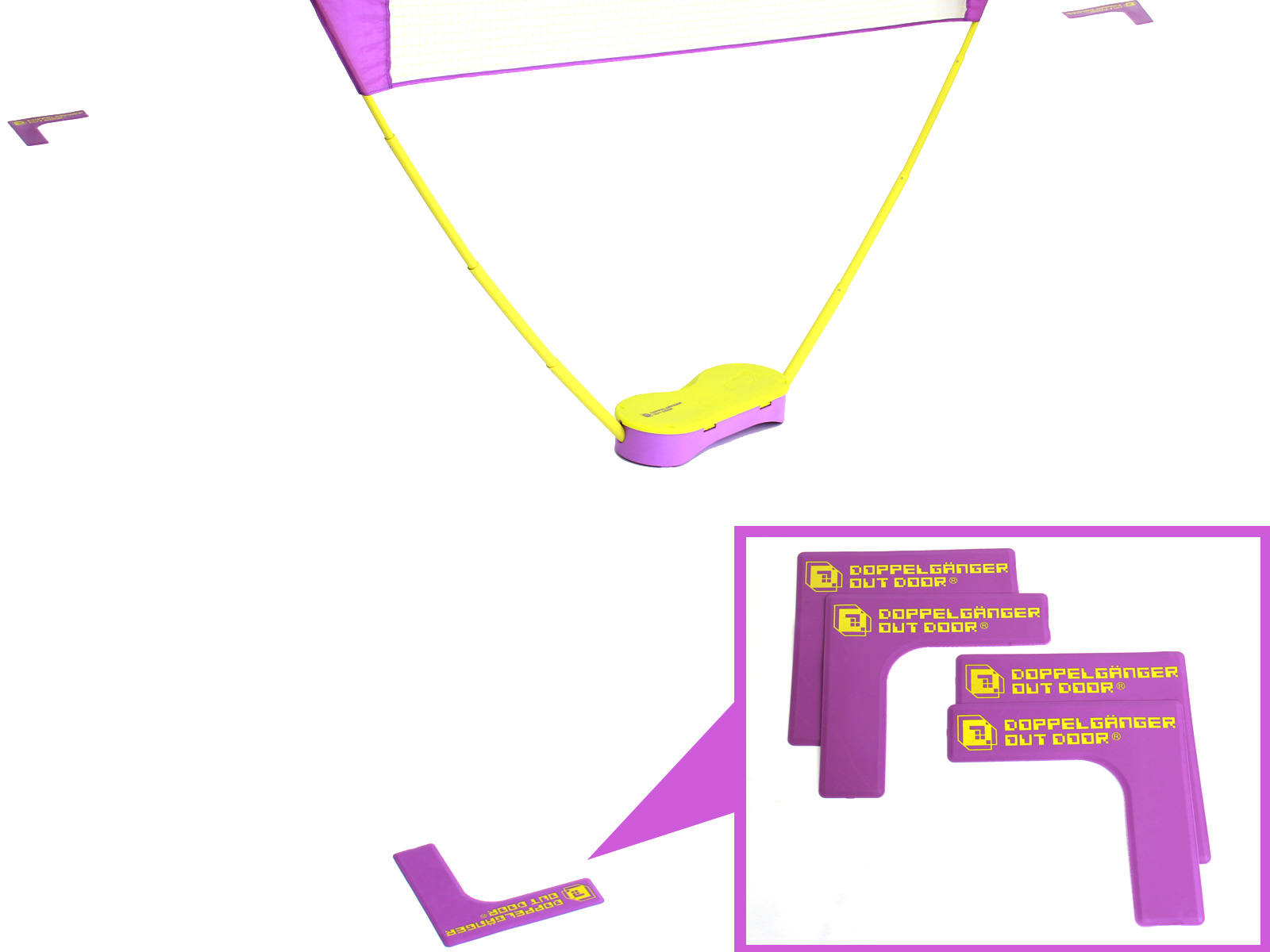ポータブルバドミントンネットの各部の特徴(グランドマーカー)