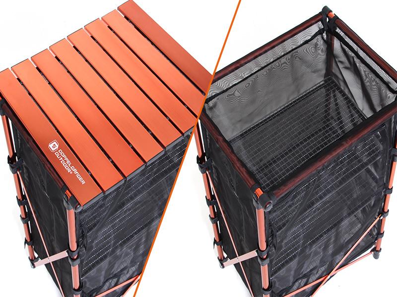 3WAYドライネットテーブルの各部の特徴(着脱式テーブル)