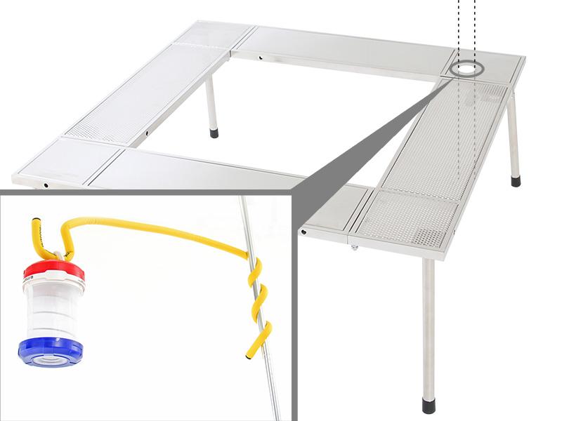 マルチファイアテーブルの各部の特徴(ランタンホール)