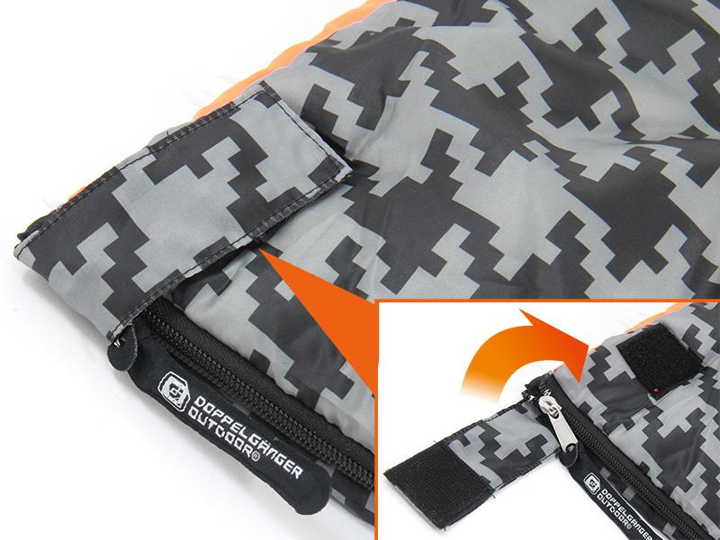 ポンチョスリーピングバッグの各部の特徴(ベルクロストッパー)