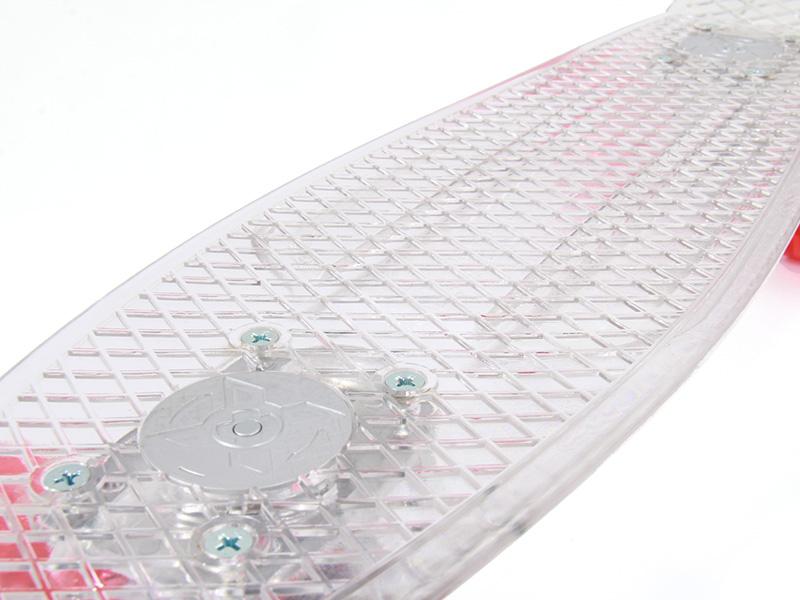 LEDスケートボードの各部の特徴(ワッフル加工)
