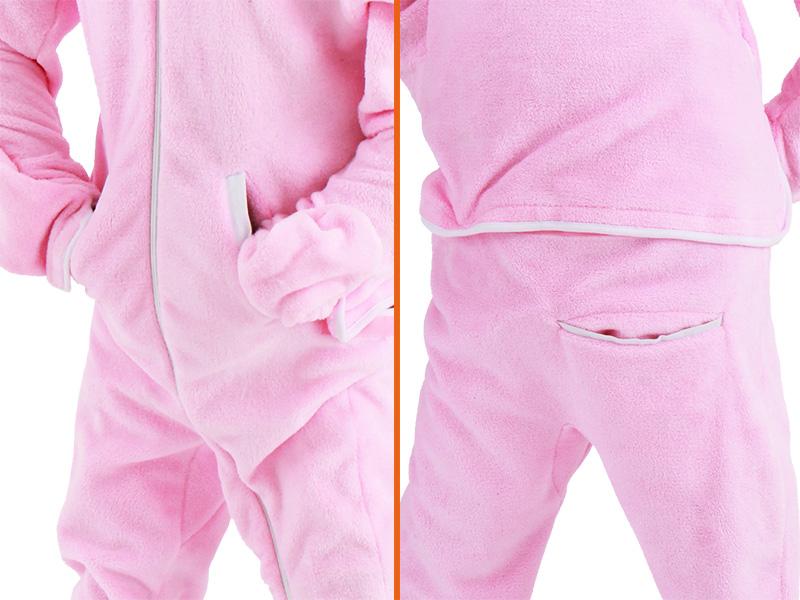 人型寝袋フリースの各部の特徴(ポケット)