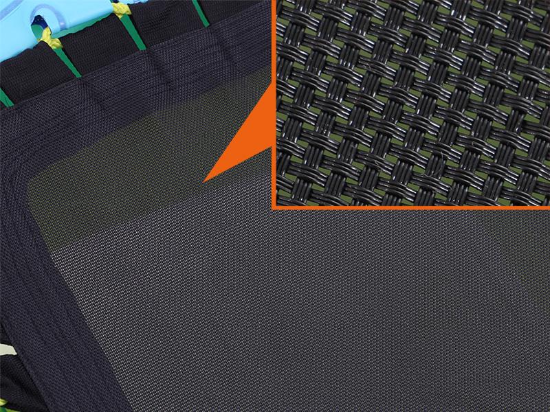 フローティングエアベッドの各部の特徴(メッシュ構造)