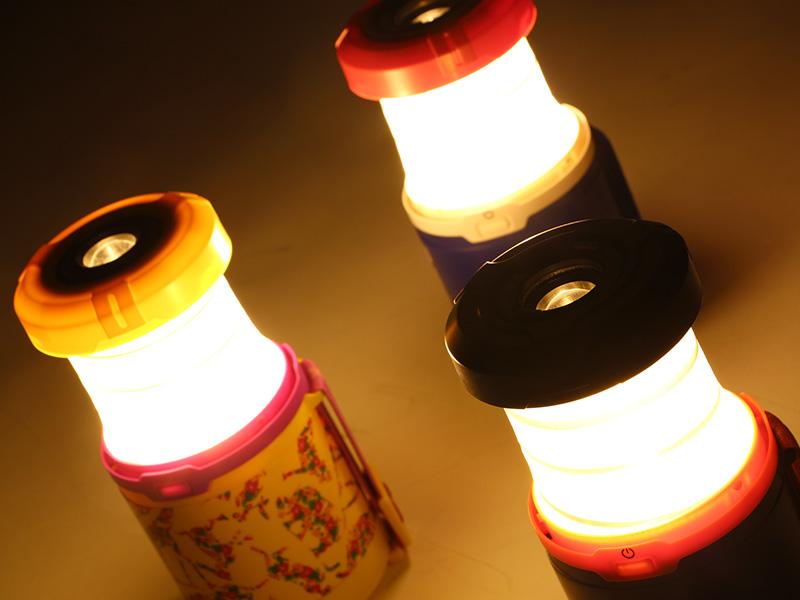 ラージポップアップランタンの各部の特徴(暖色LED)