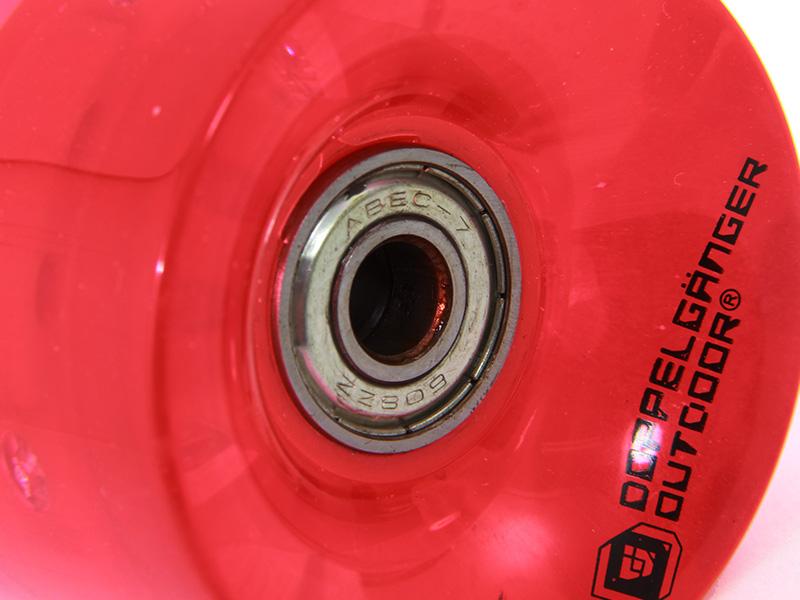 LEDスケートボードの各部の特徴(ABEC7カーボンベアリング)