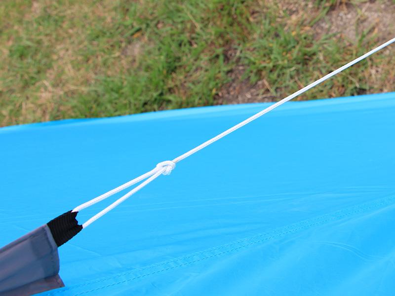 2ルームワンポールテントの各部の特徴(ロープ)