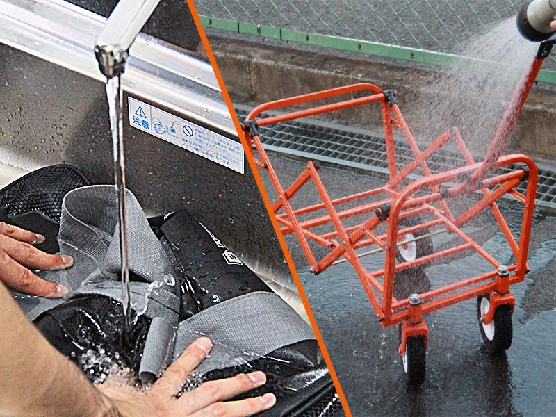 ボストンバッグワゴンの各部の特徴(丸洗い)
