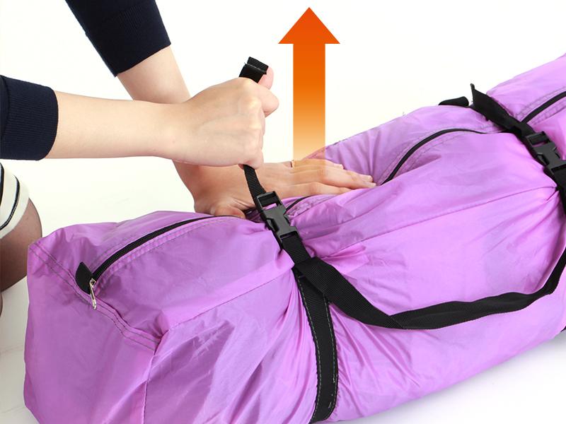 2ルームワンタッチテントの各部の特徴(コンプレッションバッグ)