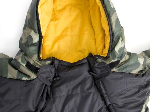 人型寝袋ver5.0 ヌクヌクシリーズの各部の特徴(ドローコード(襟元))