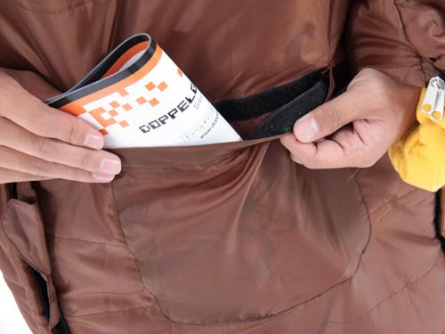 人型寝袋ver5.0 ヌクヌクシリーズの各部の特徴(小物収納ポケット)