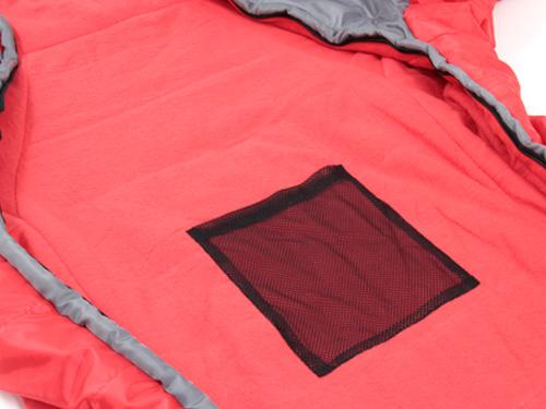 人型寝袋ver5.0 ヌクヌクシリーズの各部の特徴(メッシュ製内ポケット)