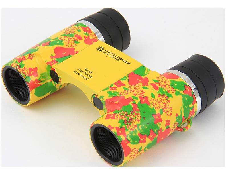 フリーフォーカス双眼鏡BC1-185(イエロー/花柄)の製品画像