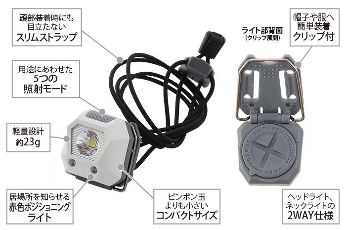 ウルトラマイクロ2WAYヘッドライトの主な特徴