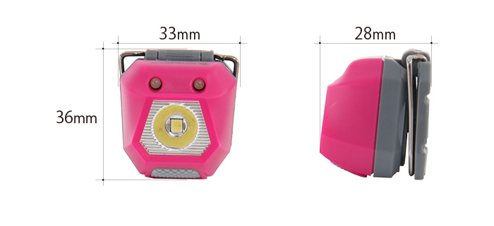 ウルトラマイクロ2WAYヘッドライトのサイズ画像