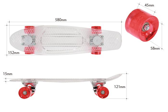 LEDスケートボードのサイズ画像