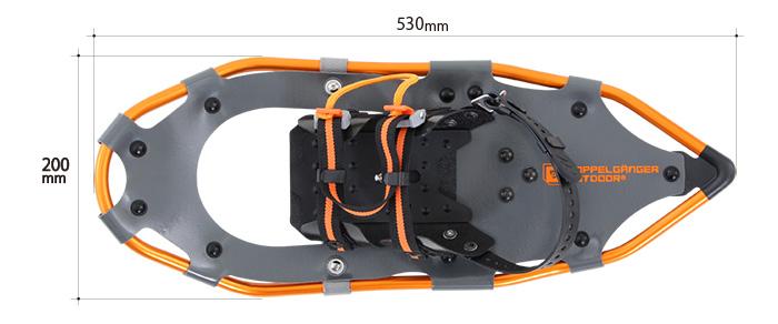 ウルトラライトスノーシューのサイズ画像
