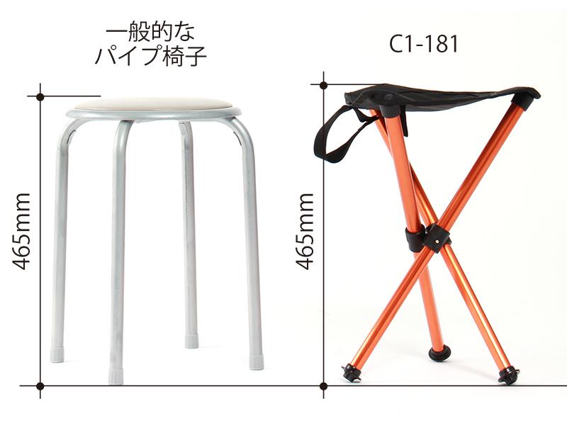 ウルトラライトハイシートチェアのメインの特徴(座面高約46cm)