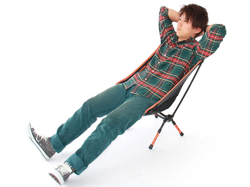 ウルトラライトアジャスタブルチェアのメインの特徴(快適な座り心地)