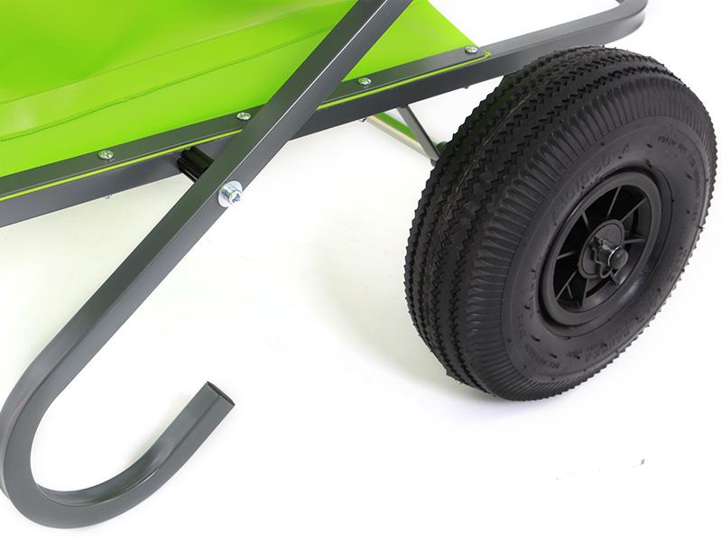 フォールディングリヤカーのメインの特徴(大型2輪ホイール)