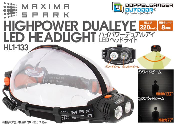【販売終了】ハイパワーデュアルアイLEDヘッドライト