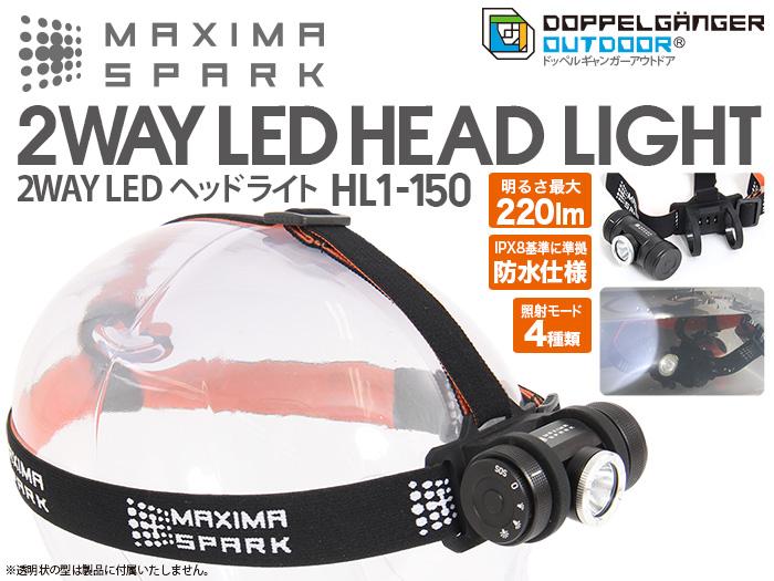 【販売終了】マキシマスパーク 2WAY LEDヘッドライト