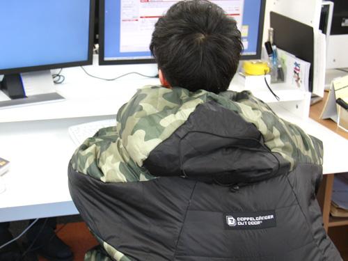 人型寝袋ver5.0 ヌクヌクシリーズの使用の一例
