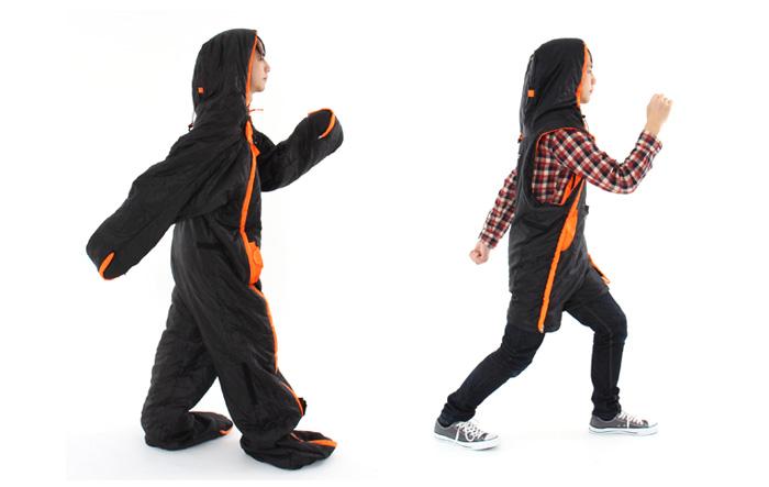 人型寝袋 ハンソデシリーズのメインの特徴(動きやすさ)