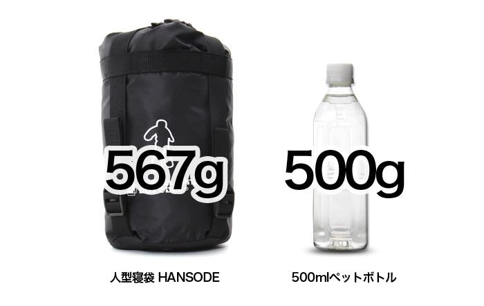 人型寝袋 ハンソデシリーズのメインの特徴(超軽量・コンパクト)