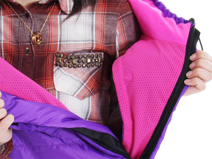 人型寝袋 ハンソデシリーズの各部の特徴(メッシュ裏地)