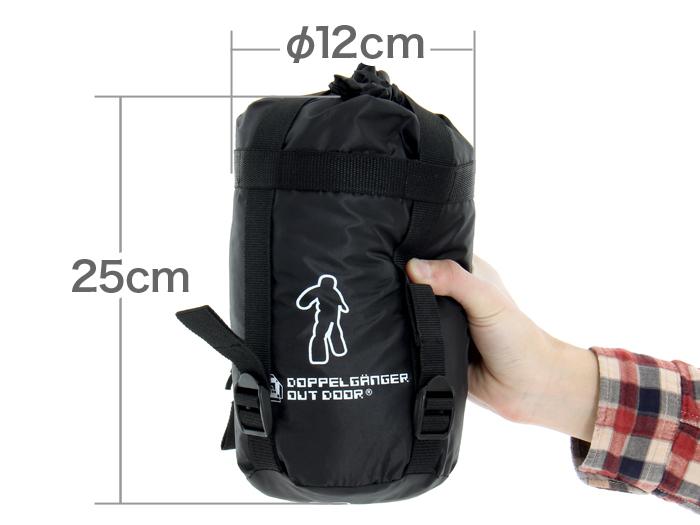 人型寝袋 ハンソデシリーズの各部の特徴(軽量・コンパクト)