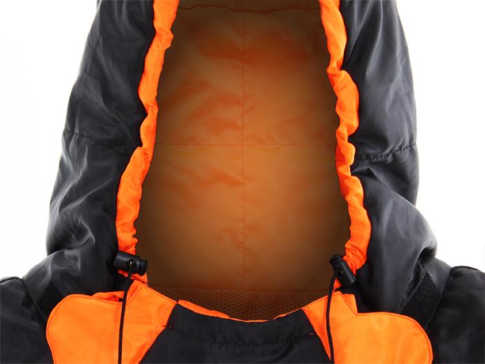人型寝袋 ハンソデシリーズの各部の特徴(ドローコード(襟元))