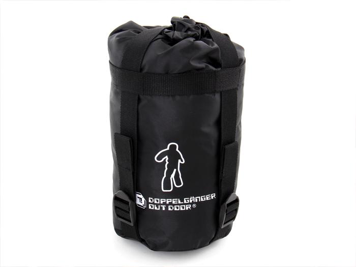 人型寝袋 ハンソデシリーズの各部の特徴(コンプレッションバッグ)