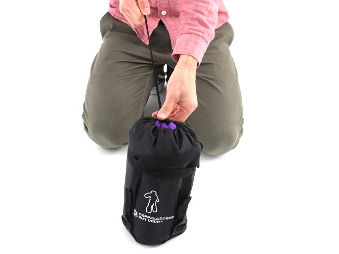 人型寝袋 ハンソデシリーズの収納/撤収方法