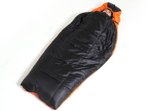 2WAYスリーピングバッグの使用の一例