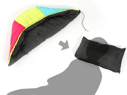 2WAYスリーピングバッグの各部の特徴(コンバーティブルピロー)