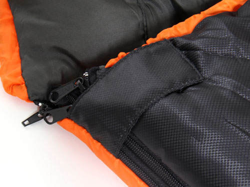 2WAYスリーピングバッグの各部の特徴(ベルクロストッパー)