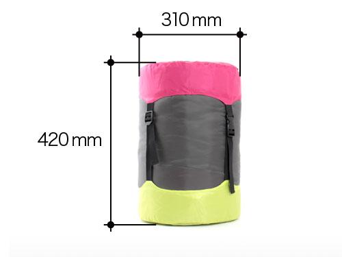 2WAYスリーピングバッグの各部の特徴(コンプレッションバッグ)