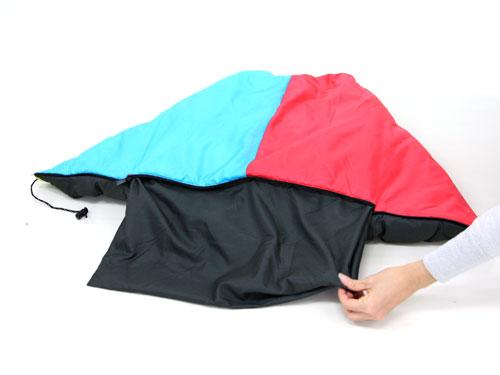 2WAYスリーピングバッグコンバーティブルピロー(枕)の変形方法(画像)画像
