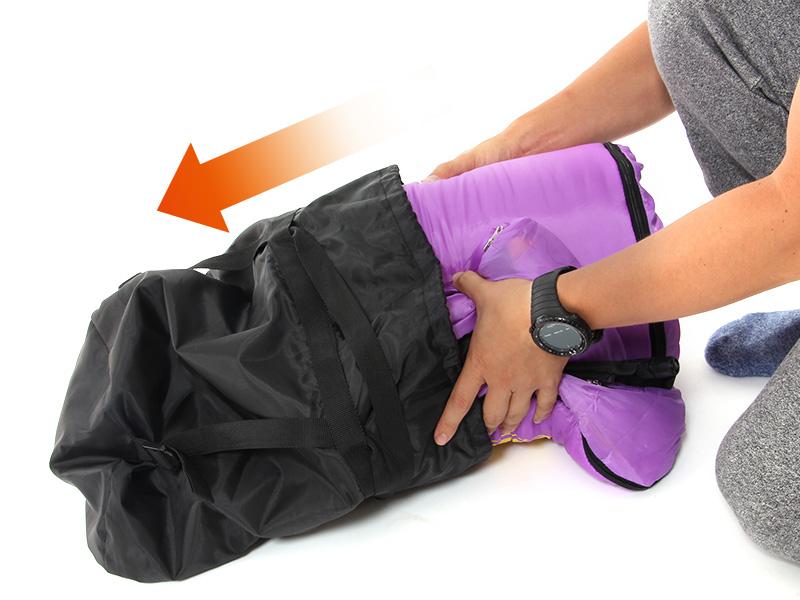 マットインスリーピングバッグの収納/撤収方法