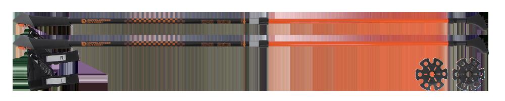 ノルディックウォーキングポールWP-03(ブラック/オレンジ)の製品画像