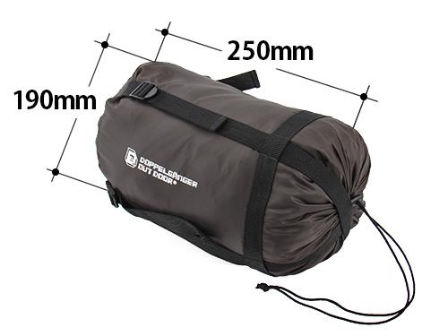 ウェアリングシュラフの各部の特徴(コンプレッションバッグ)