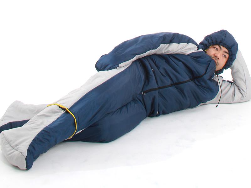 人型寝袋ver6.0の使用の一例