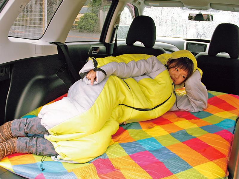 人型寝袋ver7.0 ヌクヌクシリーズの使用の一例