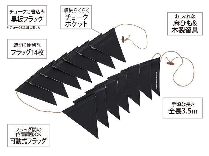 黒板フラッグガーランドの主な特徴