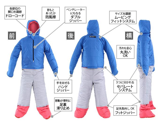 人型寝袋ver7.0  の主な特徴