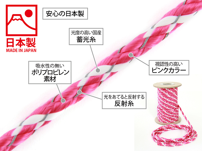 ダブルリフレクションロープの主な特徴