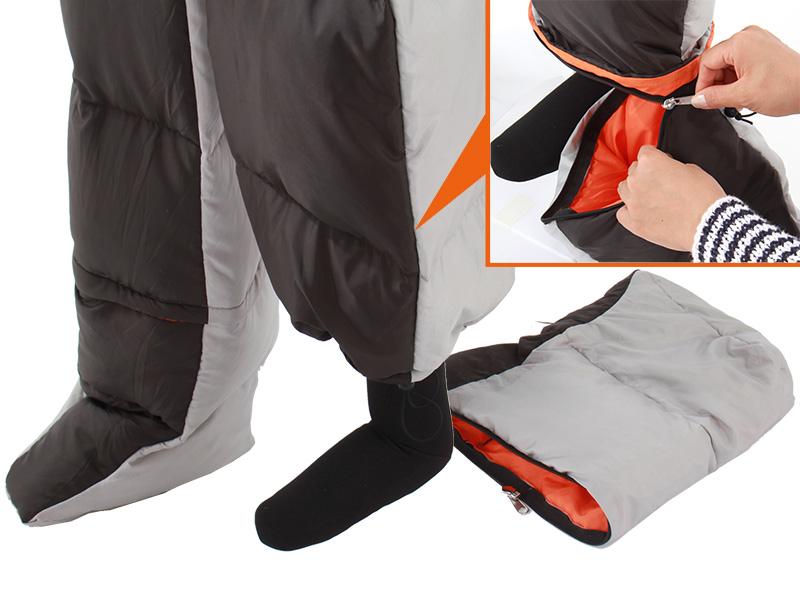 人型寝袋ver6.0 ダウンシリーズ のメインの特徴(Ver.6.0からの新仕様:フットジッパー)